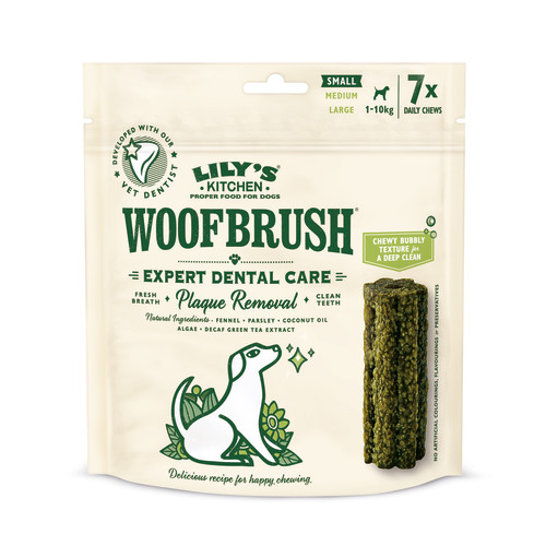 Lilys Kitchen Woofbrush Dental Chews for Dogs Small Dog x 35 Chew SAVER PACK