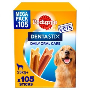 Pedigree Dentastix Large Adult Dog Treats 105 Stick SAVER PACK