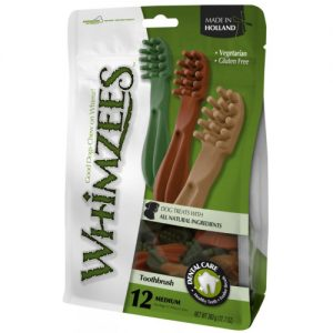 Whimzees Toothbrush Dog Treat Medium - 12 Pack