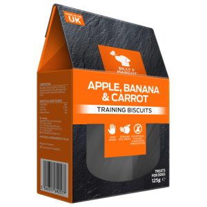 Billy & Margot Training Dog Biscuits 125g x 4 Apple, Banana & Carrot Multipack