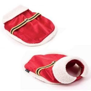 Christmas Santa Clause Dog Pet Puppy Costume Outfit Coat Fancy Dress Clothes, Medium
