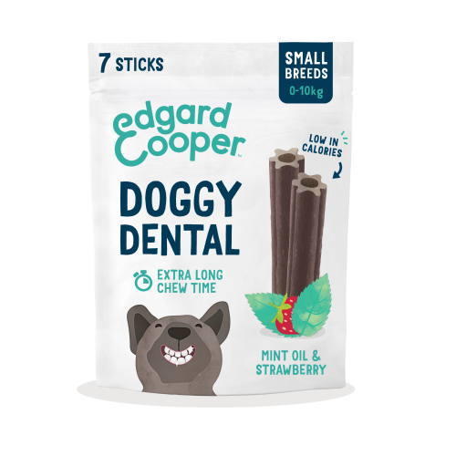 Edgard & Cooper Mint & Strawberry Doggy Dental Chews Small Dog x 7 Sticks