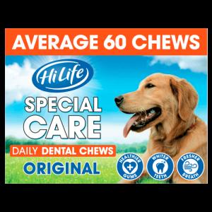 HiLife Special Care Daily Dental Original Dog Chews 60 Chews SAVER PACK