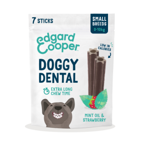 Edgard & Cooper Mint & Strawberry Doggy Dental Chews Small Dog x 56 Stick SAVER PACK