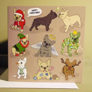 'A Frenchie Christmas' Greetings Card