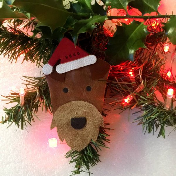Airedale Terrier Personalised Christmas Decoration