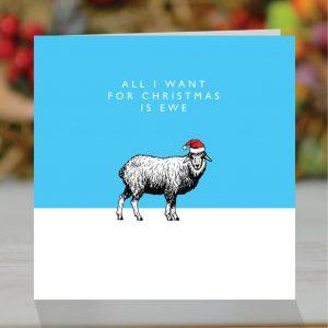 'All I Want For Christmas Is Ewe' Christmas Card