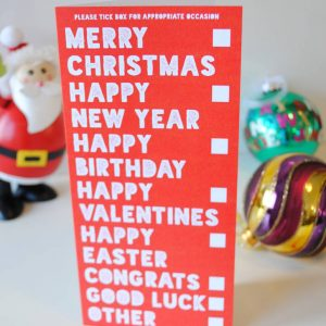 'All Occasions In One' Funny Value Christmas Card