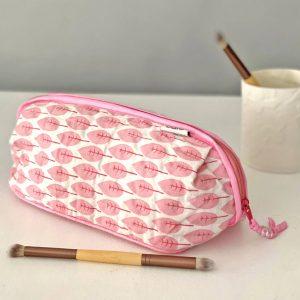 Bella Make Up Bag In Pink Trees Print