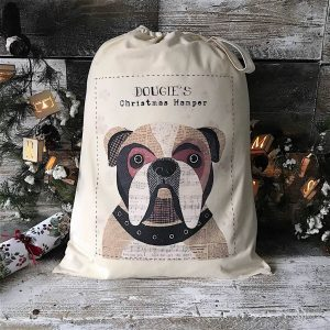 Christmas Dog Sack/Bag Personalised 68 Designs