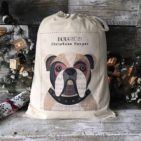 Christmas Dog Sack/Bag Personalised 68 Designs