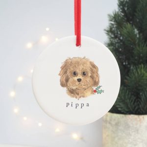 Custom Dog Christmas Decoration Portrait