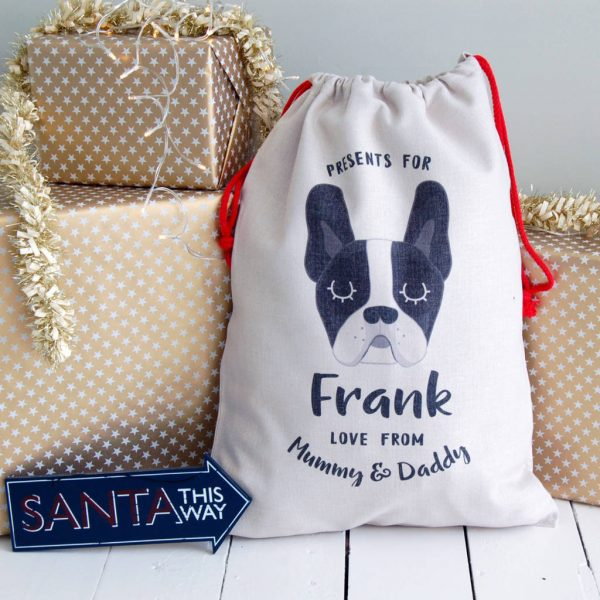 Dog Christmas Present Sack Personalised Large