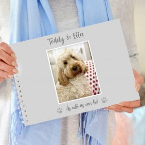 Dog Memory Book, White/Black
