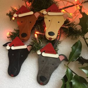 Greyhound Christmas Decoration Personalised Gift