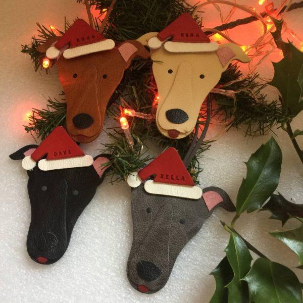 Greyhound Christmas Decoration Personalised Gift