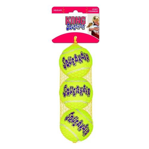 KONG Air Squeaker Tennis Ball Dog Toy Medium 3 pack