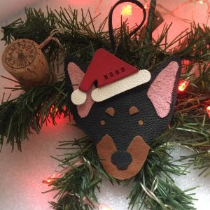 Miniature Pinscher Personalised Christmas Decoration