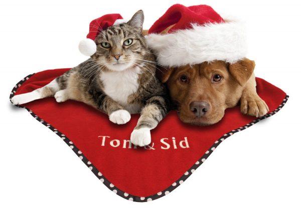 Personalised Christmas Pet Blanket