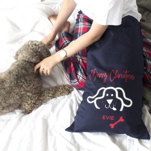 Personalised Christmas Sack For The Dog
