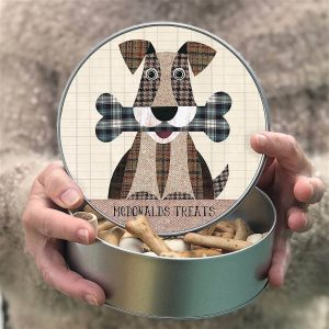 Personalised Dog And Bone Treat Tin