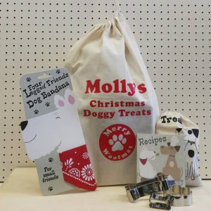Personalised Dog Treats Christmas Santa Sack