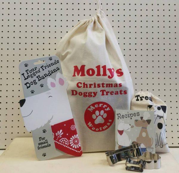 Personalised Dog Treats Christmas Santa Sack