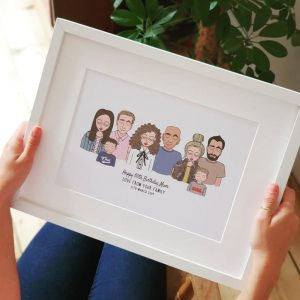 Personalised Family Print Illustration