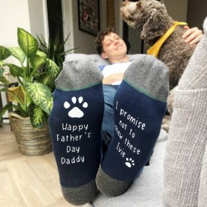 Personalised Father's Day Promise Socks From The Dog