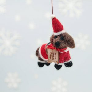 Personalised Festive Dog Christmas Tree Decoration