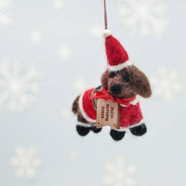 Personalised Festive Dog Christmas Tree Decoration