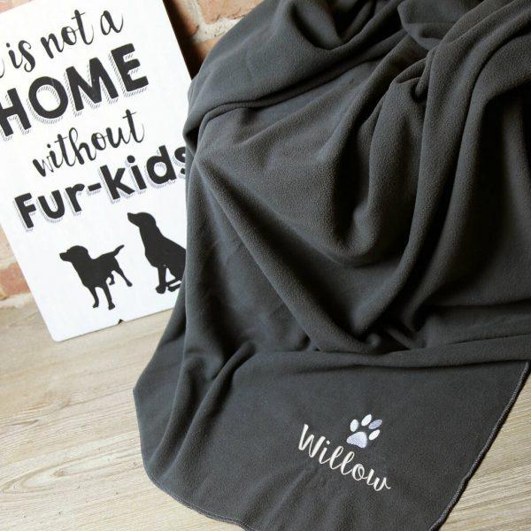 Personalised Fleece Dog Blanket