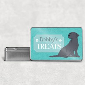Personalised Labrador Dog Treat Tin All Colours