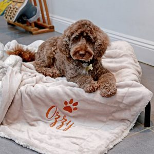 Personalised Luxury Sherpa Dog Blanket