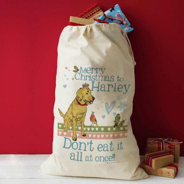 Personalised Pet Christmas Sack