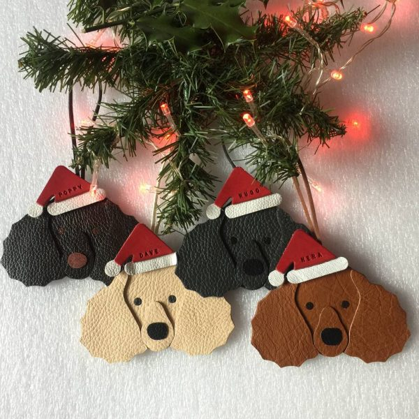 Personalised Poodle Christmas Decoration