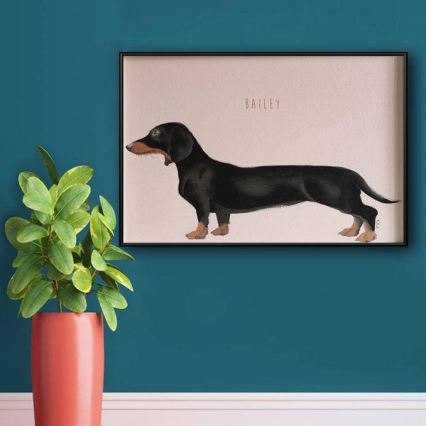 Personalised Sausage Dog Print