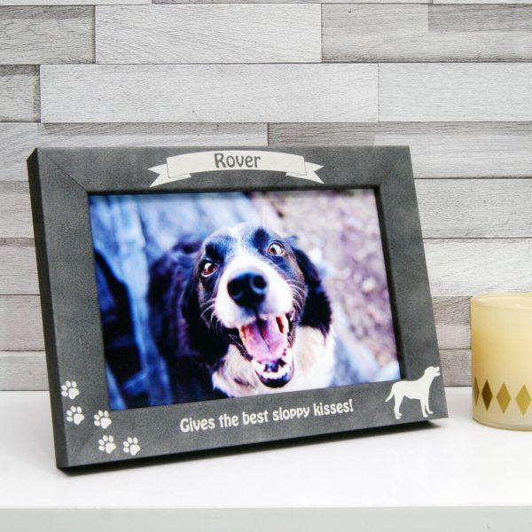 Personalised Stone Effect Dog Breed Photo Frame