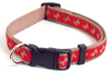 Wag 'N' Walk Adjustable Dog Collar - Red/Beige Bone - 25 - 36cm x 13mm