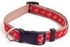 Wag 'N' Walk Adjustable Dog Collar - Red/Beige Bone - 46 - 71cm x 25mm