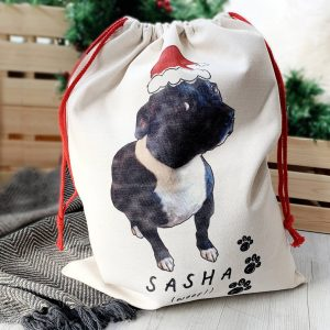 Your Dogs Photo Personalised Christmas Sack