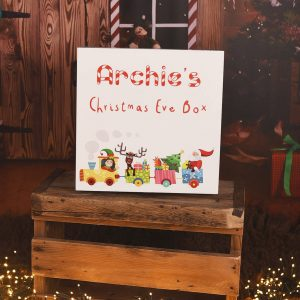 Personalised Toy Train Wooden Christmas Eve Box