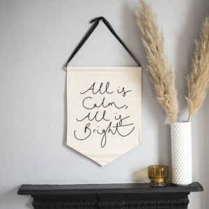 'All Is Calm, All Is Bright' Minimal Christmas Banner