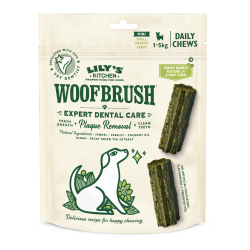 Lilys Kitchen Woofbrush Dental Chews for Dogs Mini Dog x 10 Chews