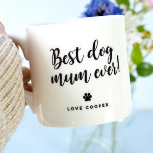 Personalised 'Best Dog Mum' Bone China Mug
