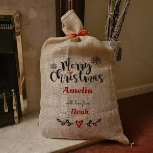 Personalised Christmas Sack Traditional Stocking