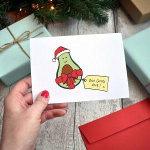 Avo Good One! Funny Avocado Christmas Card Pack