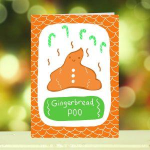 'Gingerbread POO' Christmas Card