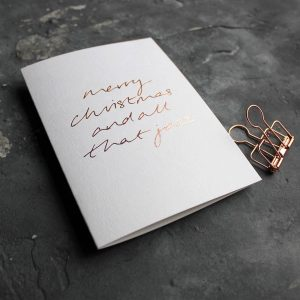 'Merry Christmas And All That Jazz' Foil Christmas Card