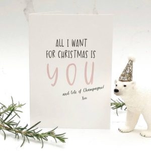 All I Want For Christmas Script Card